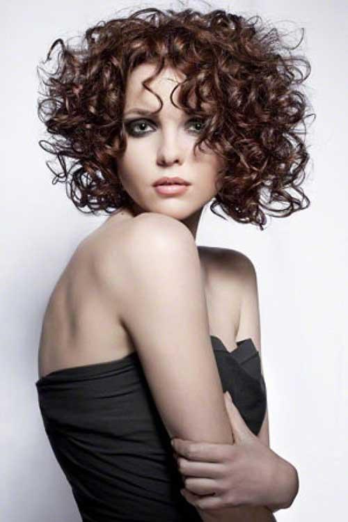 Curly Short Brown Hair Perm