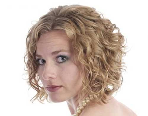 Short Curly Perm Blonde Hairstyles