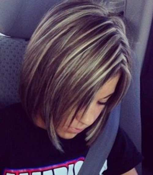 Short Dark Blonde Highlighted Hair