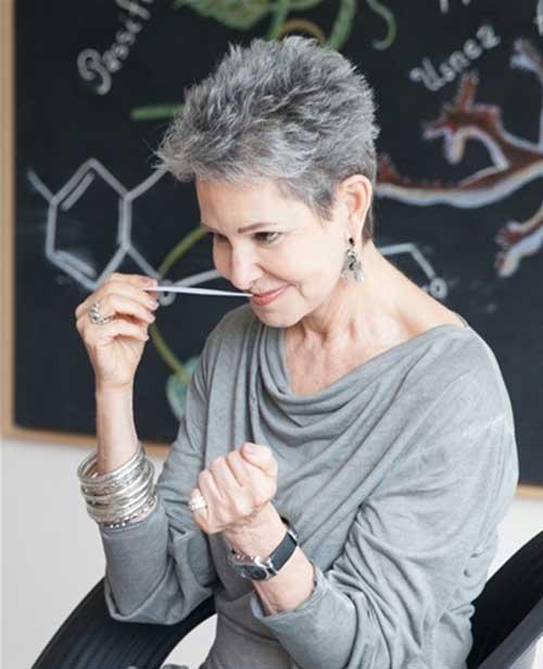 Short Pixie Hair Styles for Women Over 60