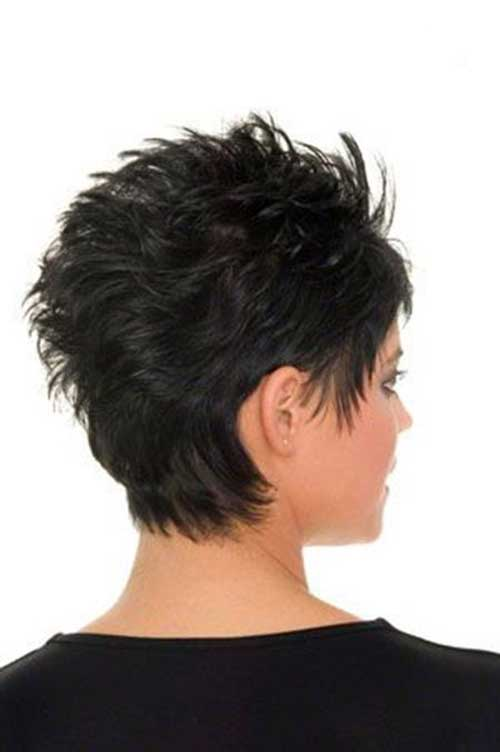 Spikey Pixie Cut Back View