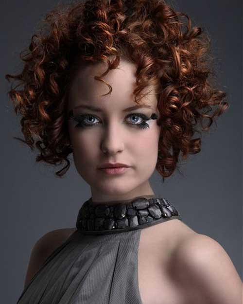 Spiral Perm for Short Hairstyle