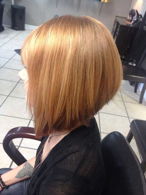 Strawberry Blonde Short Bob Hair