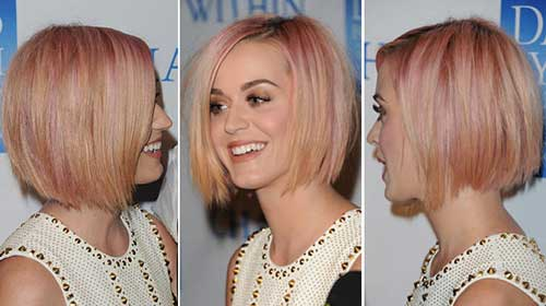 Katy Perry Strawberry Blonde Short Hair