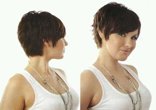 Trendy Pixie Cut Hair Back View