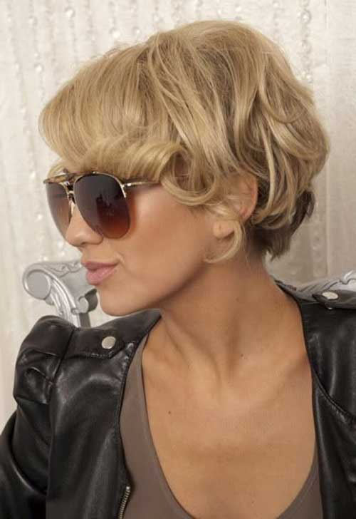Wavy Long Pixie Hairstyles 2015