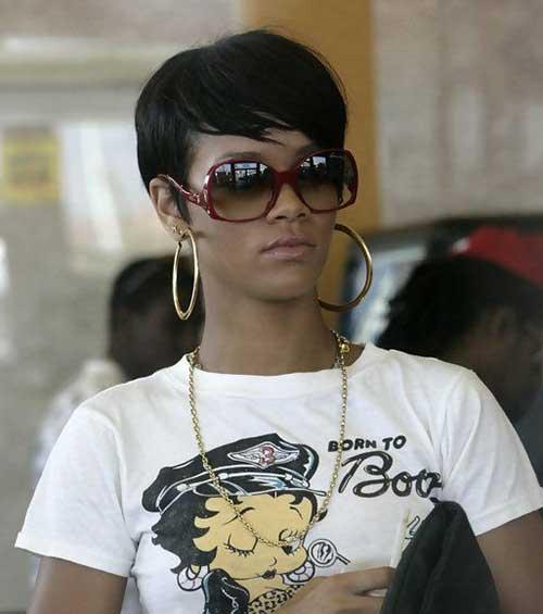 Rihanna Pixie Cut-12