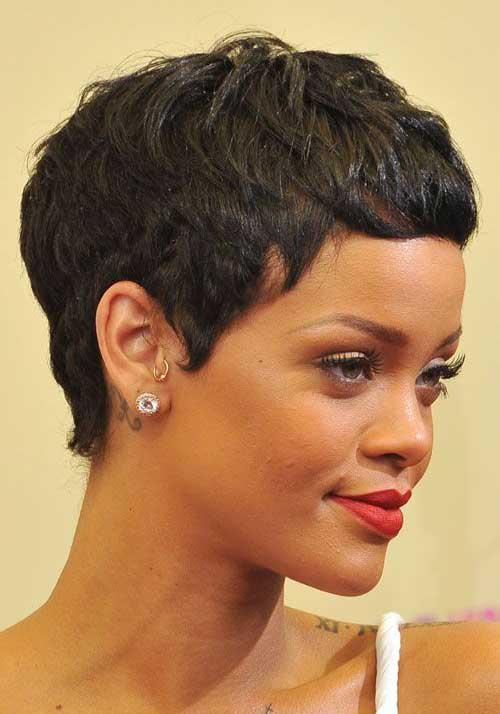 Rihanna Pixie Cut-13
