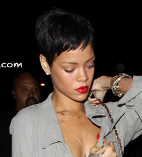 Rihanna Pixie Cut-14
