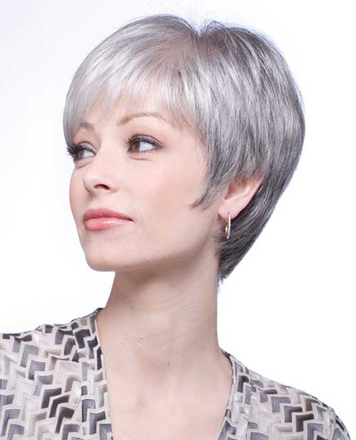 best short haircuts for gray hair grey haircuts the best hairstyles for 2016 4020 | Short Straight Pixie for Grey Hair