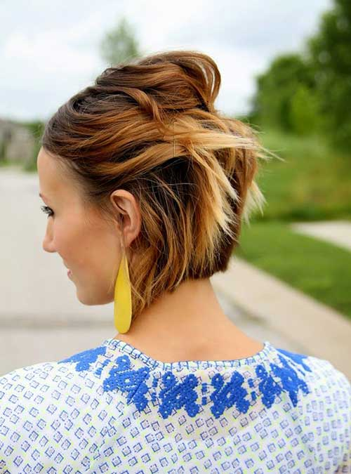 Hairstyles for Short Hair Girls-14