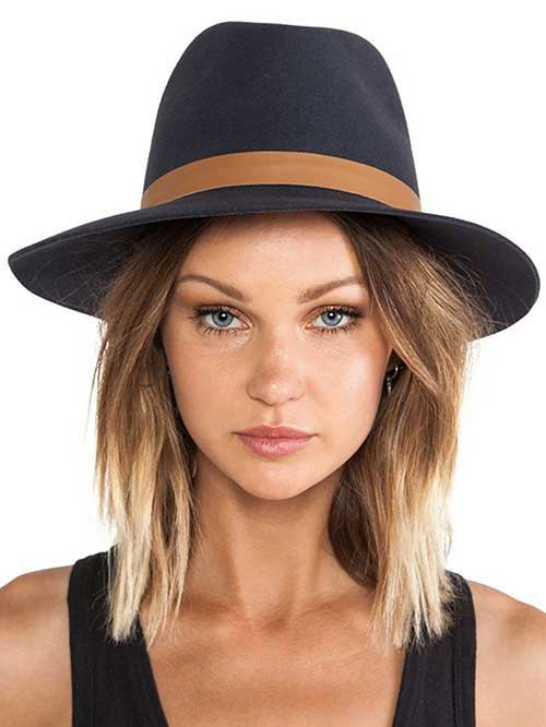 Blonde Ombre Short Hair-17