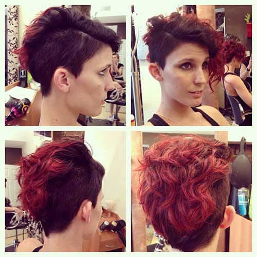 Cute Short Curly Hairstyles-18