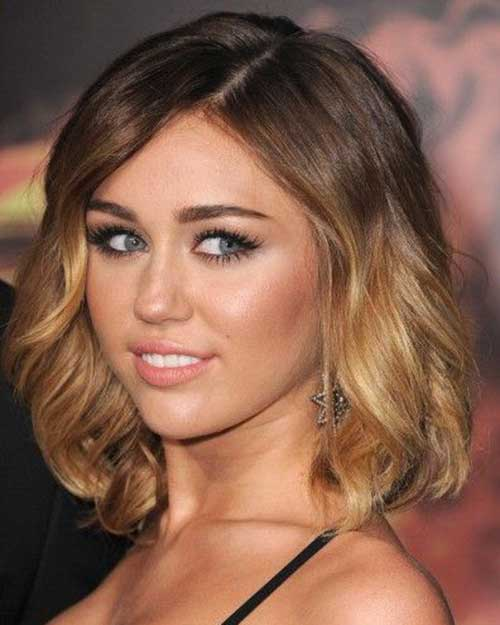 Blonde Ombre Short Hair-19