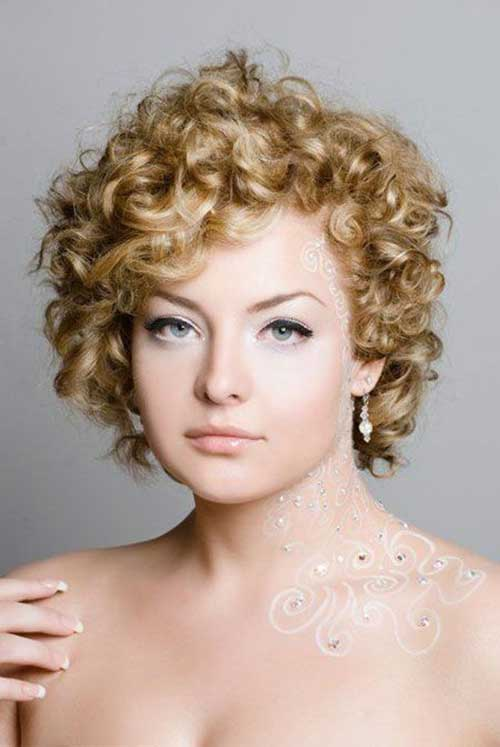 Cute Short Curly Hairstyles-8