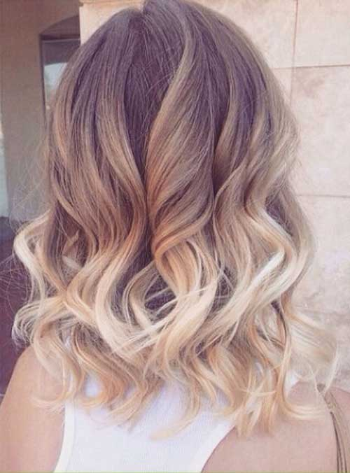 Short Blonde Ombre Hair
