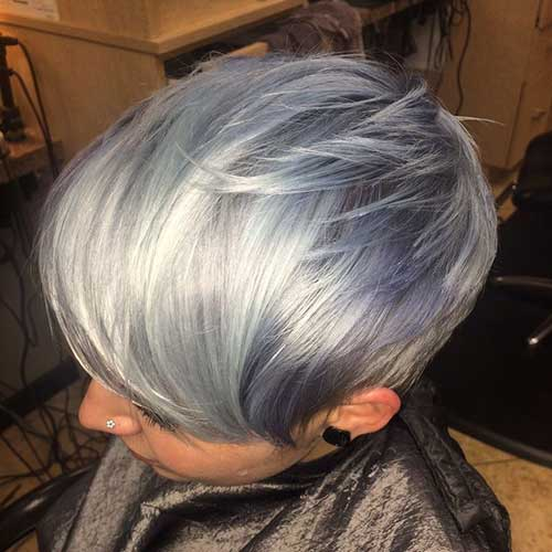Layered Pixie Grey Short Hair Cuts