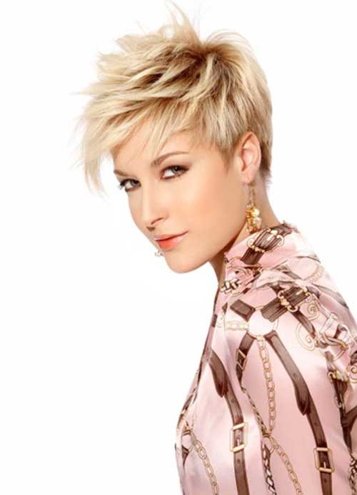 Layered Blonde Pixie Haircuts