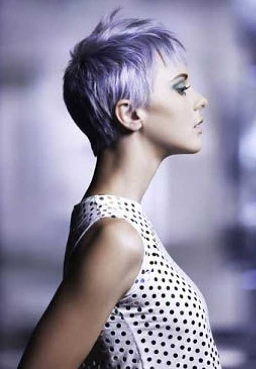 Layered Pixie Purple Short Hair Cuts