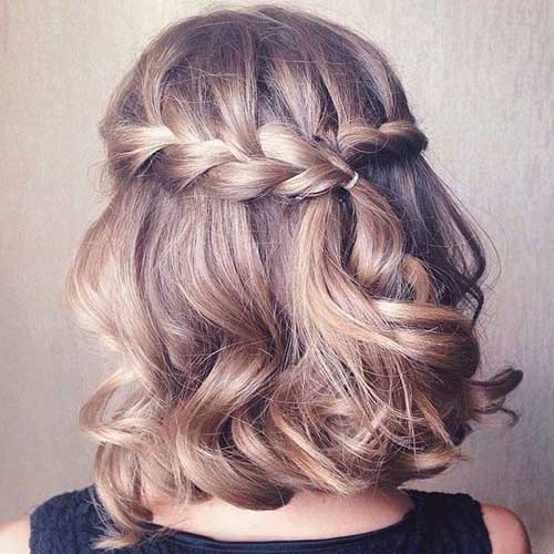 Pictures of Short Hair Styles with Braid