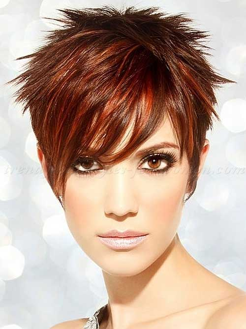Trendy Short Spiky Pixie Hair