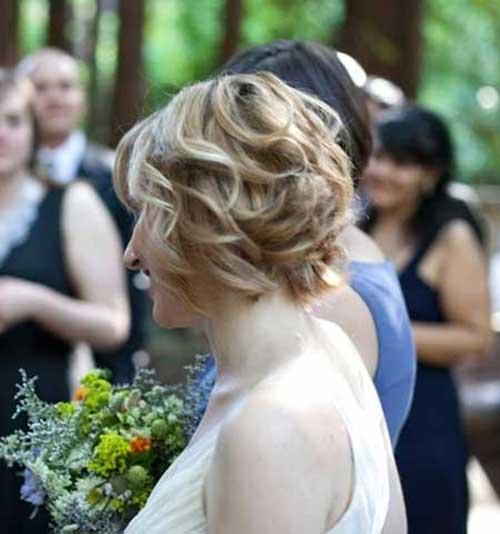 Wedding Curly Hair Ideas for Short Bob