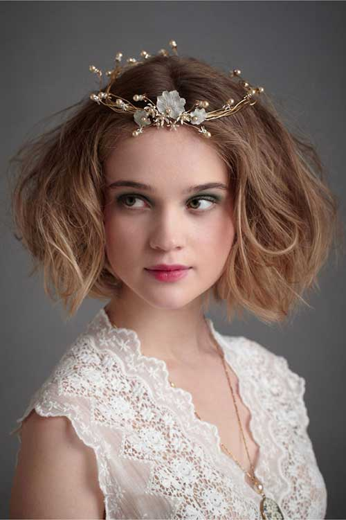 Wedding Short Curly Bob with Accessories Ideas