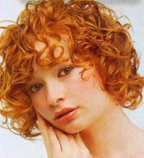 Short Curly Hair with Bangs-10