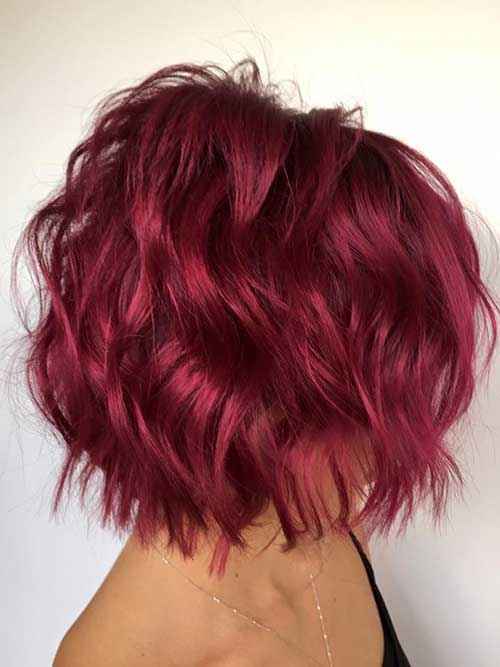 Hairstyles for Short Wavy Hair-11