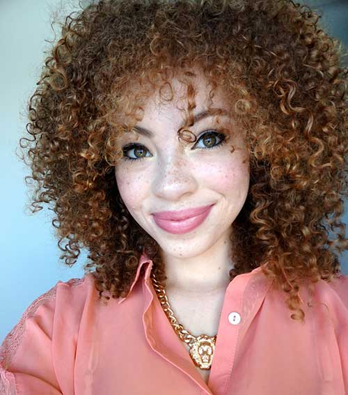 Short Curly Hair with Bangs-12