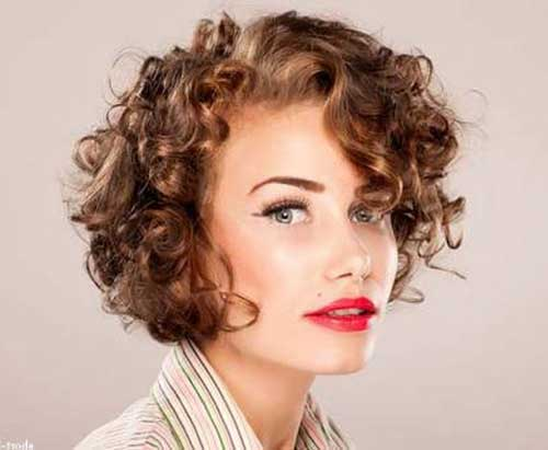 Short Curly Hair with Bangs-13