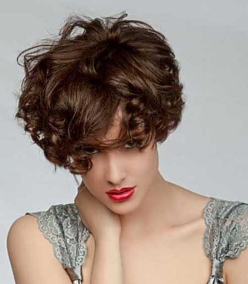 Short Curly Hair with Bangs-14