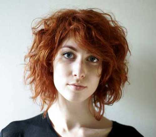 Short Curly Hair with Bangs-15