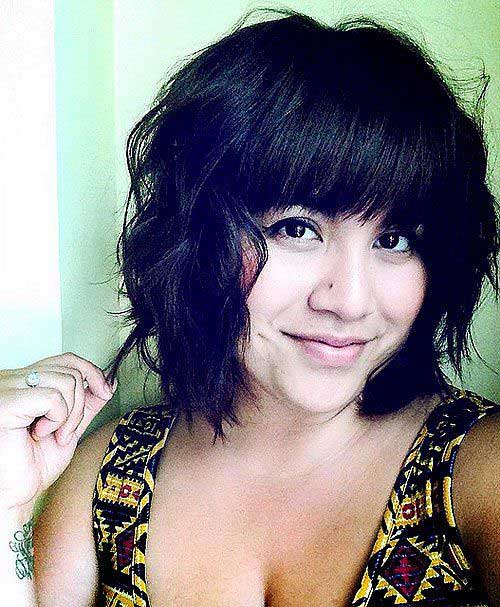 Hairstyles for Short Wavy Hair-19