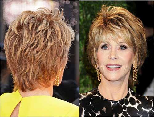 Short Hair Styles for Women Over 60-11