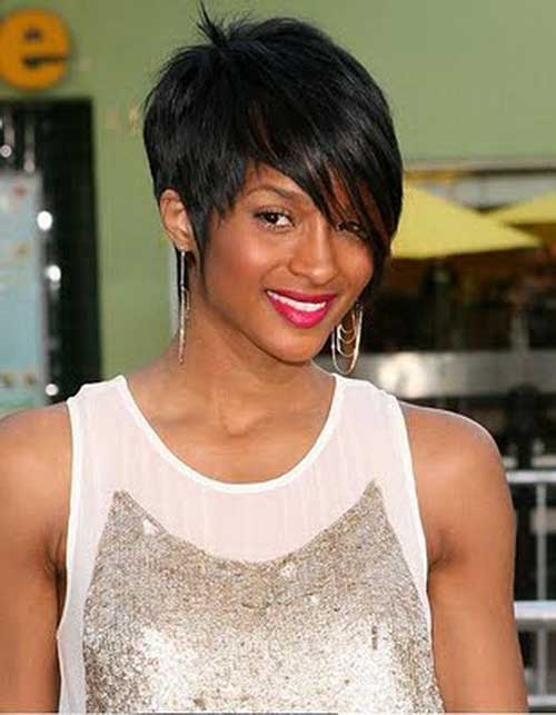 Cute Short Hairstyles for Black Women-14