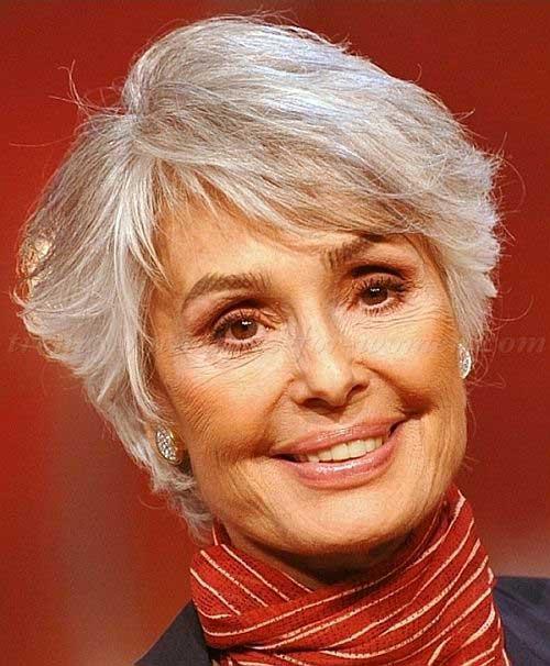 Short Hair Styles for Women Over 60-14