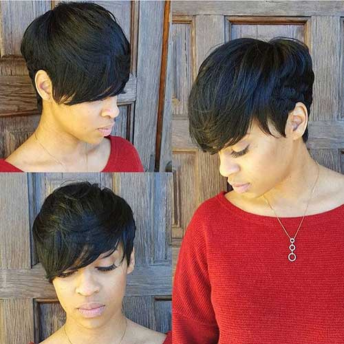 Cute Short Hairstyles for Black Women-7