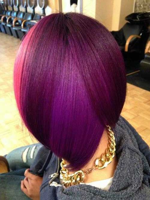Black Women Purple Bob Hairstyles