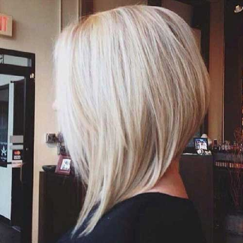 Short Blonde Bob Inverted Cut
