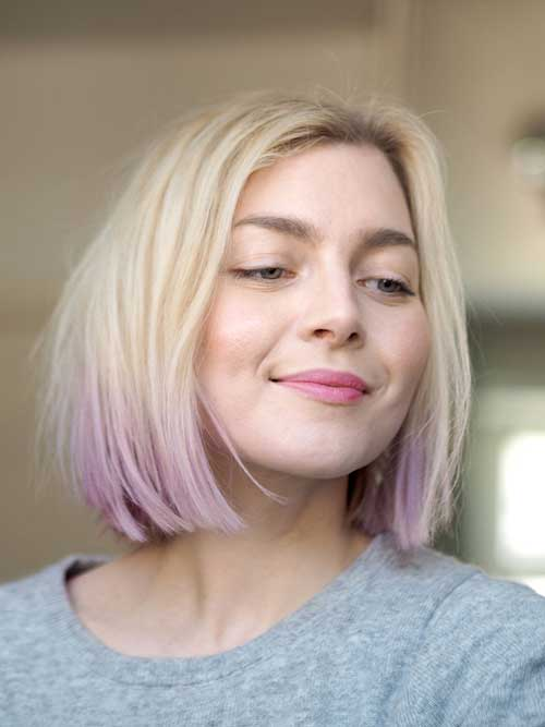 Blonde Bob Line Cut Ideas