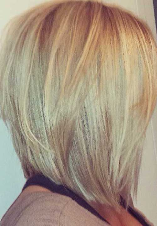 Blonde Long Angled Bob Hair