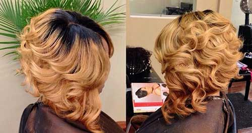 Bob Hairstyles with Finger Waves for Black Women