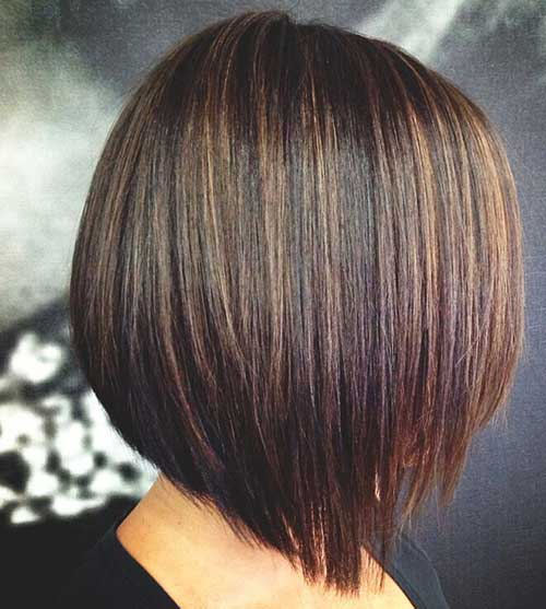 Brown Bob Hairstyles with Lowlights