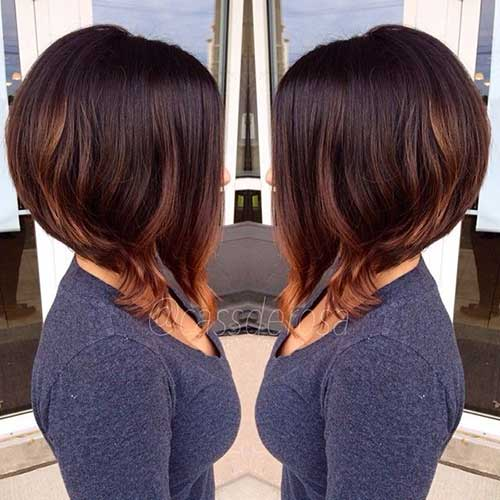 Inverted Brown Hair Bob