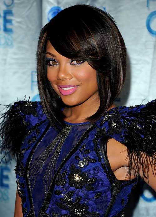 Best Classy Bob with Bangs for Black Women