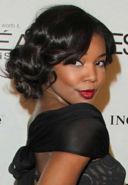 Classy Curly Bob Hairstyles for Black Women