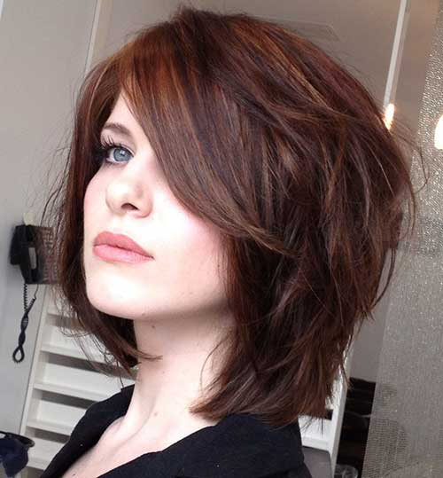 Dark Brown Bob Thick Hair
