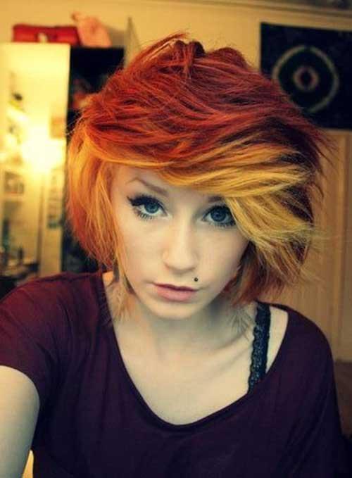 Funky Short Ombre Hair Style