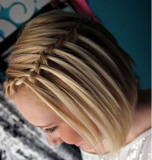 Girls Braided Short Hair Cut